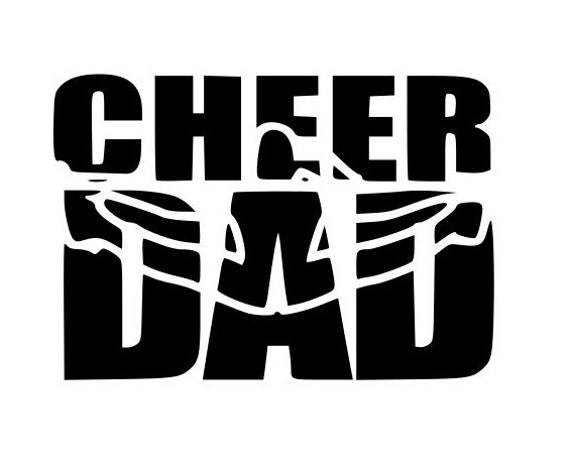 Cheer Dad Laptop Cup Decal Svg Digital Download Cuttable Files Etsy