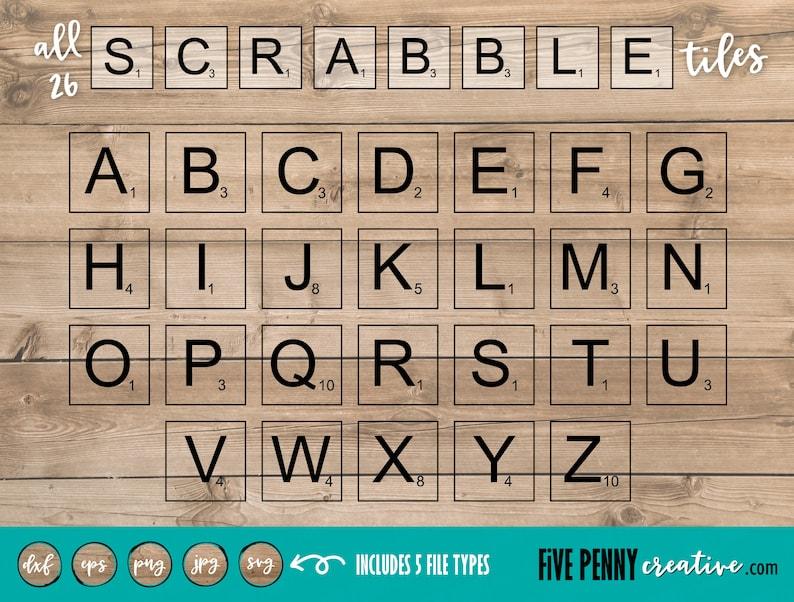 Scrabble Tiles SVG (JPG, PNG, eps, Cricut, Silhouette, cutting file, vector  file) | scrabble letters | alphabet svg | letters cut file