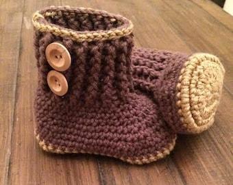 Ugg Style Baby Booties