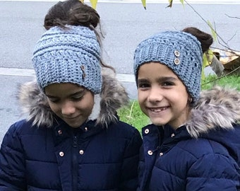 Dobre Brothers Girls Woolen Caps Winter Knitting Wool Warm Hats