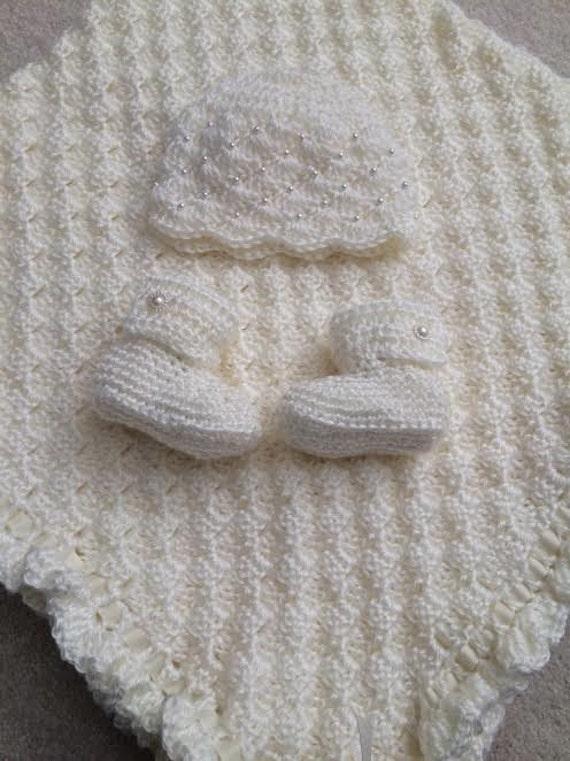 Crochet blanket shower Christmas baby gift,handmade for Christening newborn granddaughter