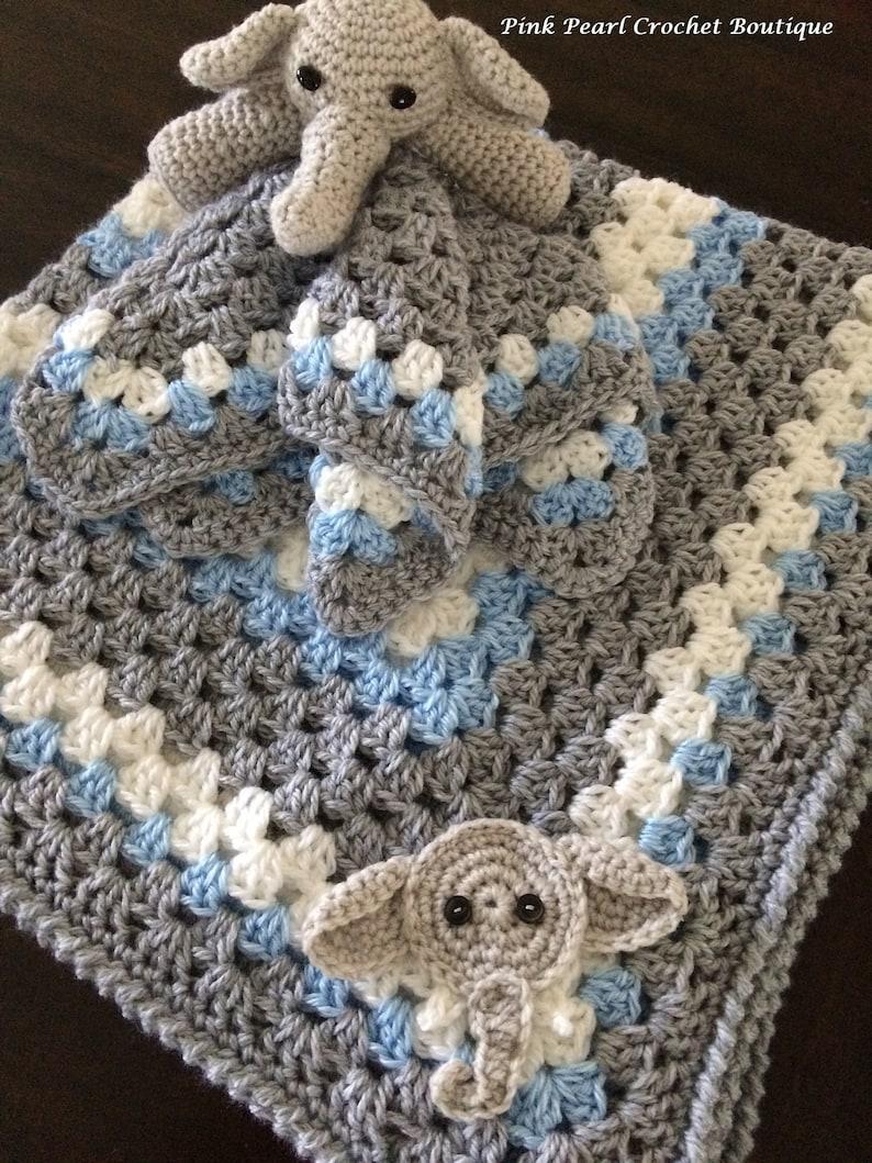 Elephant Lovey: Free Crochet Baby Blanket Pattern | | 1059x794