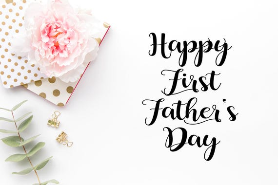 Happy First Fathers Day Svg Dad Svg Fathers Day Svg Dad Etsy