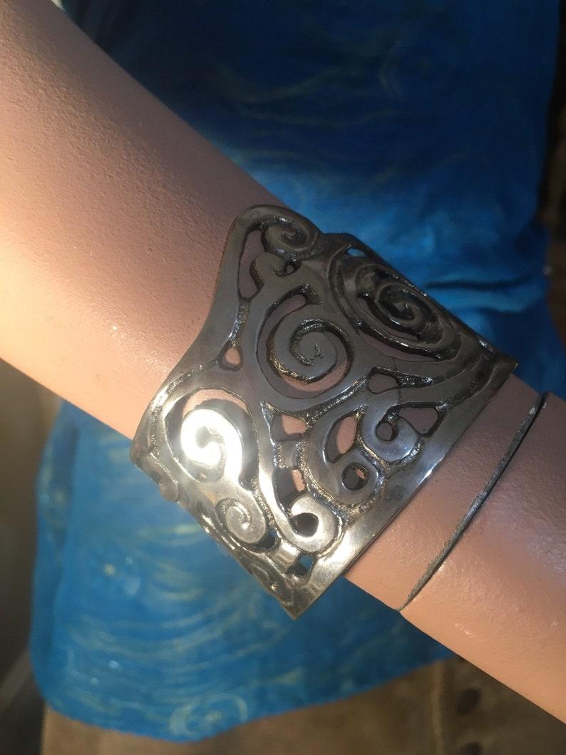 Silver Swirl Cuff Bracelet