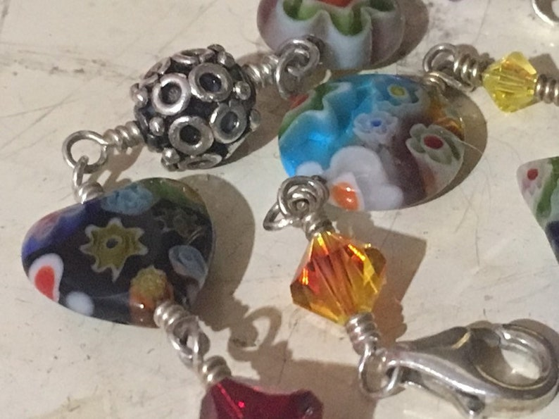Murano Glass And Sterling Silver Bracelet