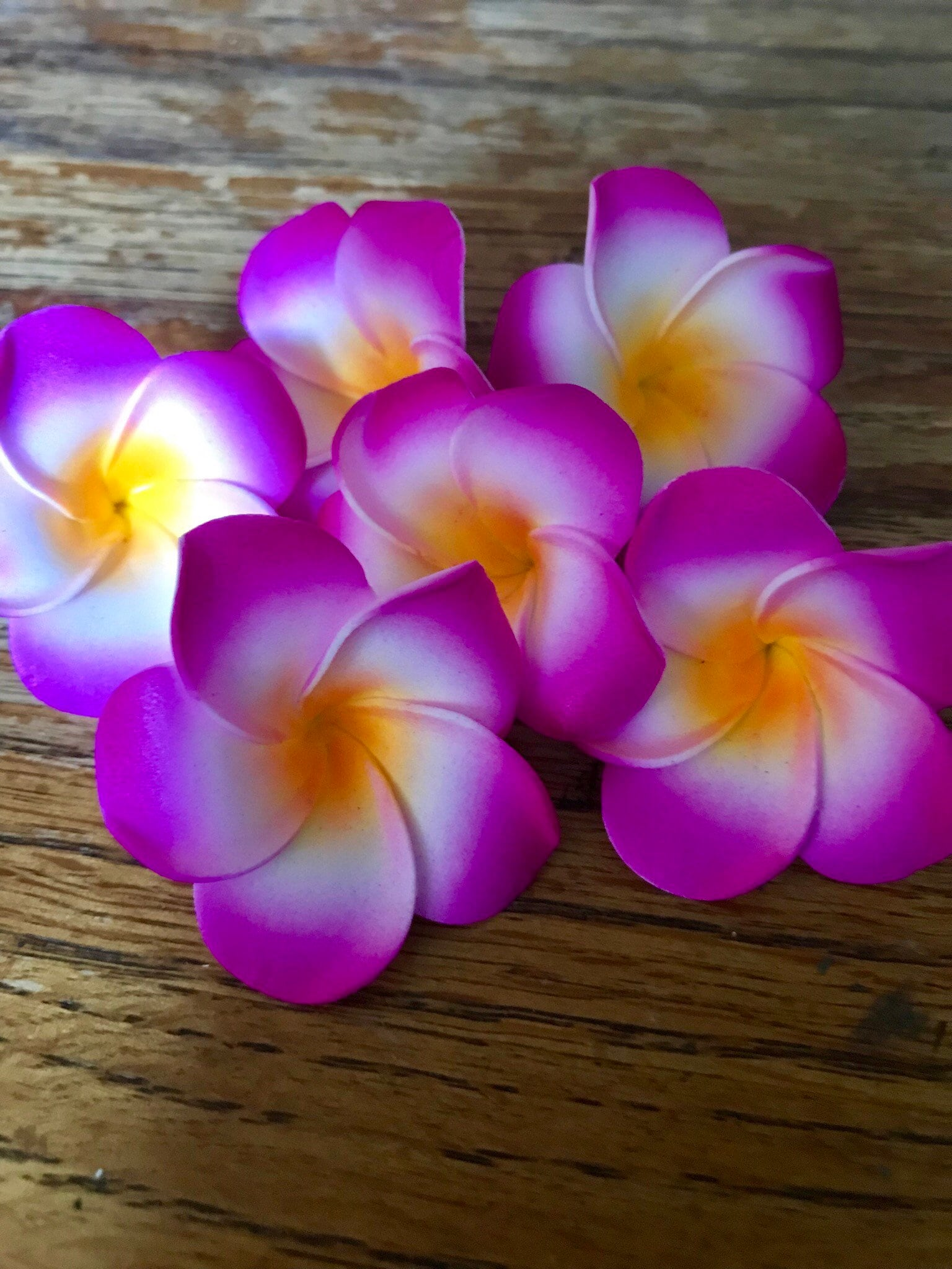Luau Hawaiian Flowers Magenta Fake Plumeria Lot Of 2550