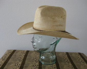 af237e5de9487 Stallion by STETSON Straw Western Ware Cowboy Ranch Hat Size 7 1 4