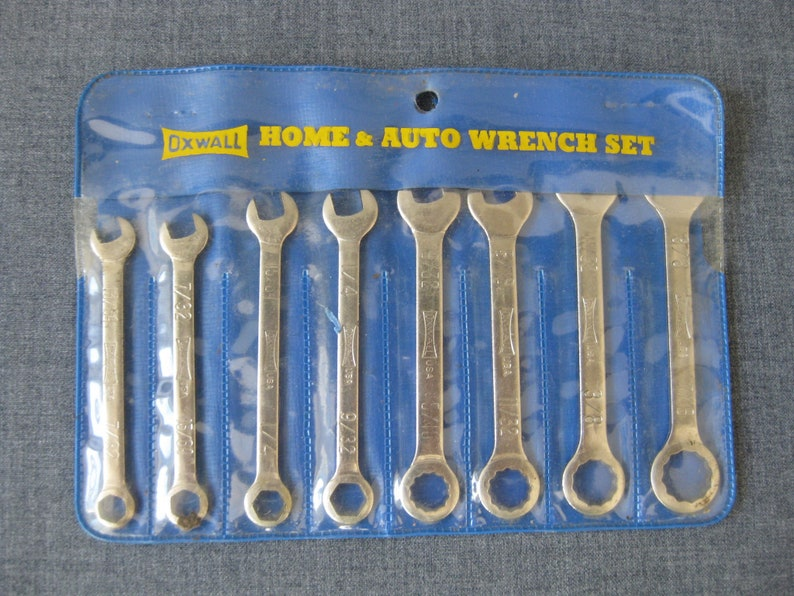 Combination 8-Pc OXWALL Home /& Auto Wrench Set No 3958 USA