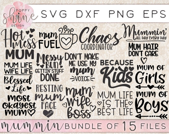 Mummin Bundle Of 15 Svg Dxf Png Eps Cutting Files For Etsy