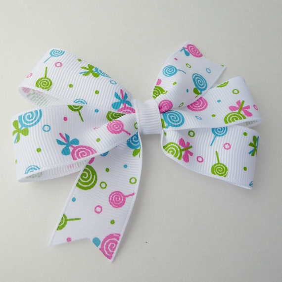 hair bows ribbon girl accessories head clips white with purple damask ribbon bow