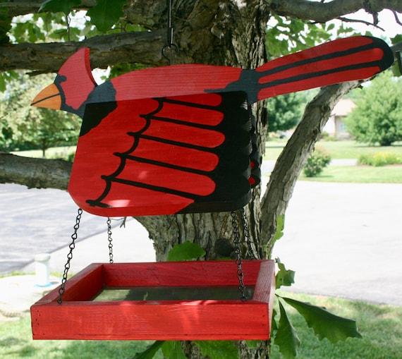 Cardinal Bird Feeder | Etsy