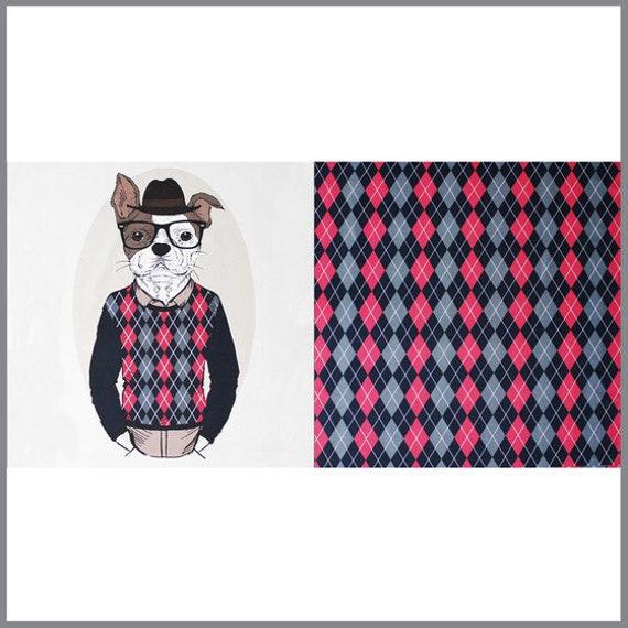 Jerseystoff Panel Schlauer Hund | Etsy