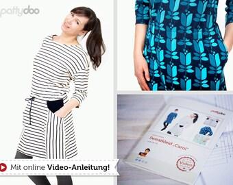 Cut pattern sweat dress Carol by pattydoo
