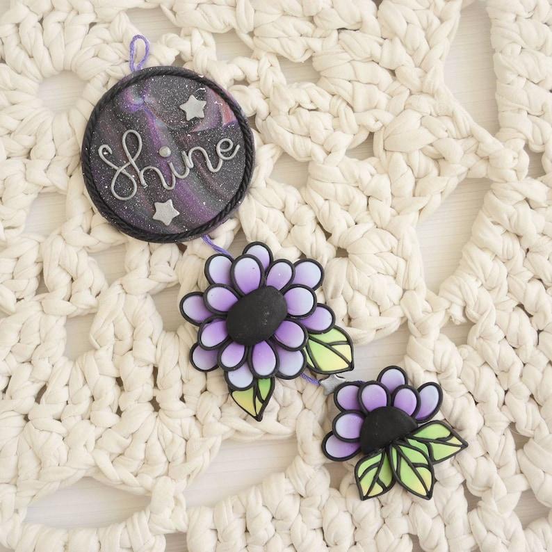 Kalte Porzellan Mini Wand aufhängen, Blumen und Galaxy-Thema