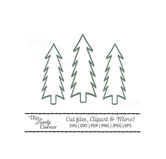 Christmas Pine Tree Svg File For Cricut Cut File Simple Etsy