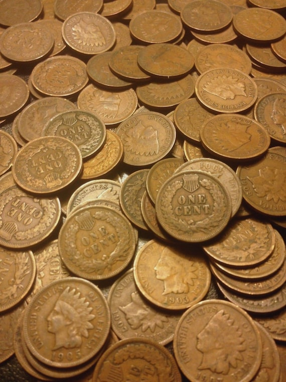 3 1859-1909 Indian Cents Coin Lot