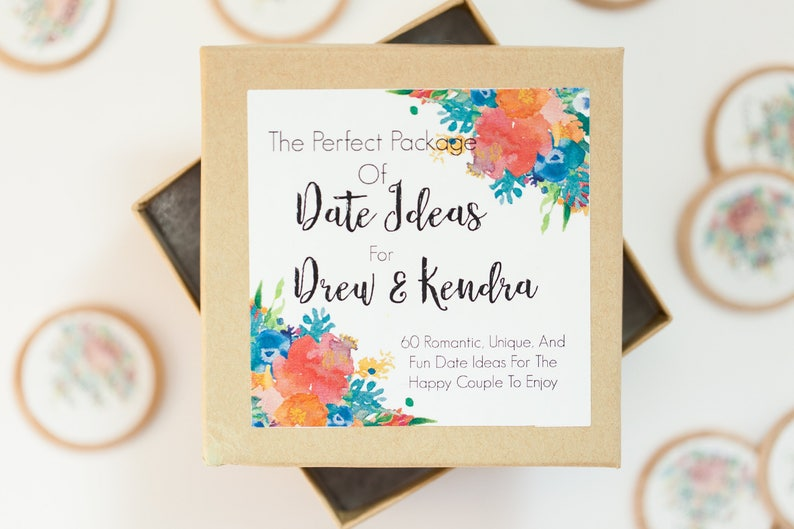 Personalized Date Idea Box Date Night Ideas Wedding Gifts Etsy