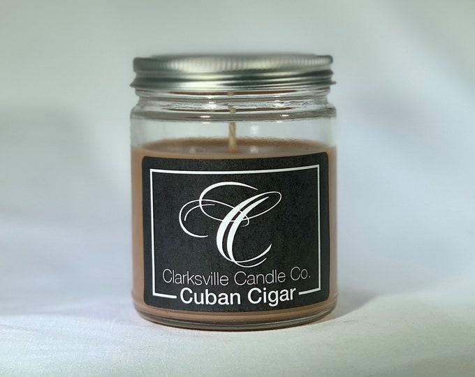 Cuban Cigar All Natural Soy Candle 6oz