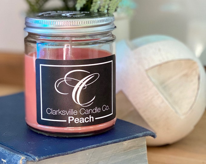 Peach All Natural Soy Candle 12oz