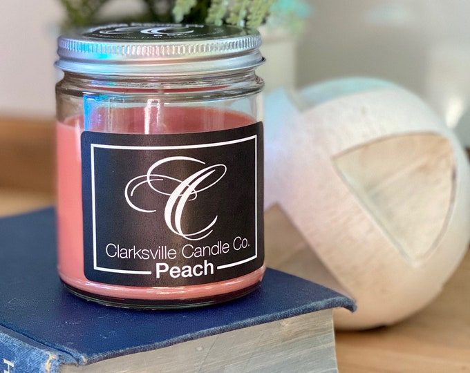Peach All Natural Soy Candle 6oz