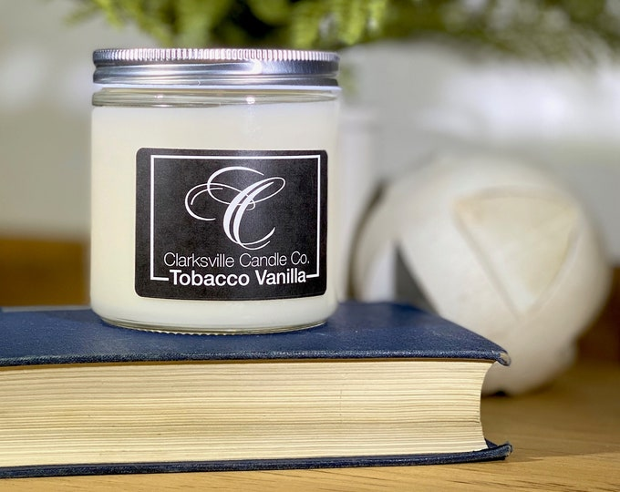 Tobacco Vanilla All Natural Soy Candle 12oz