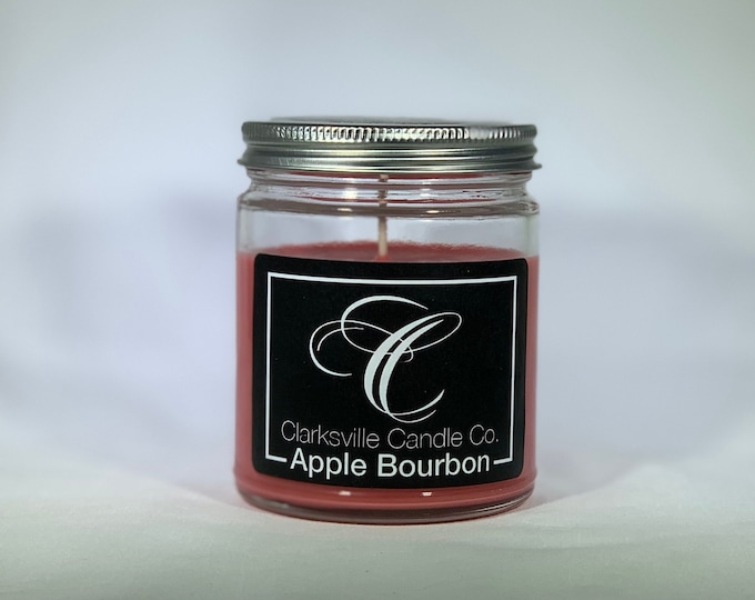 Apple Bourbon All Natural Soy Candle 6oz
