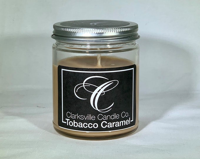 Tobacco Caramel All Natural Soy Candle 6oz