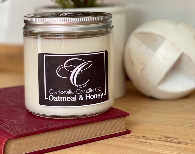 Oatmeal & Honey All Natural Soy Candle 12oz