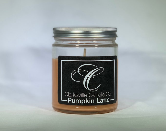 Pumpkin Latte  All Natural Soy Candle 6oz