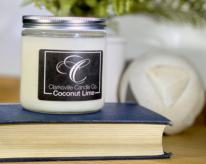 Coconut Lime All Natural Soy Candle 6oz