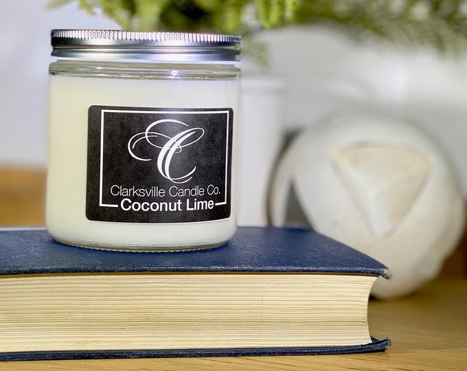 Coconut Lime All Natural Soy Candle 12oz