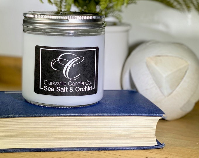 Sea Salt and Orchid All Natural Soy Candle 6oz