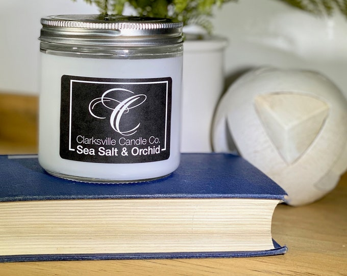 Sea Salt and Orchid All Natural Soy Candle 12oz