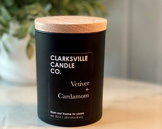 Vetiver + Cardamom All Natural Soy Candle 12oz