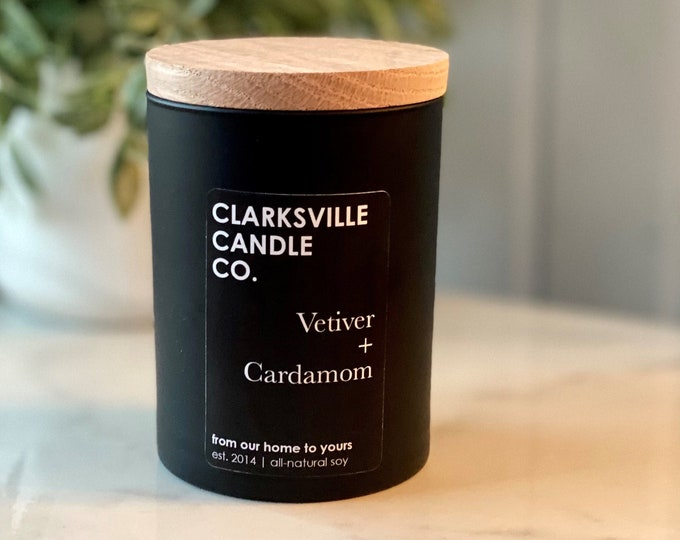 Vetiver + Cardamom All Natural Soy Candle 8oz