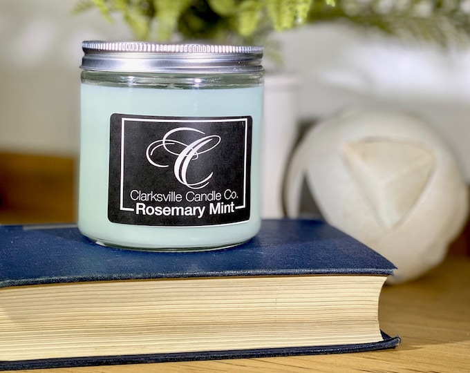 Rosemary Mint All Natural Soy Candle 6oz