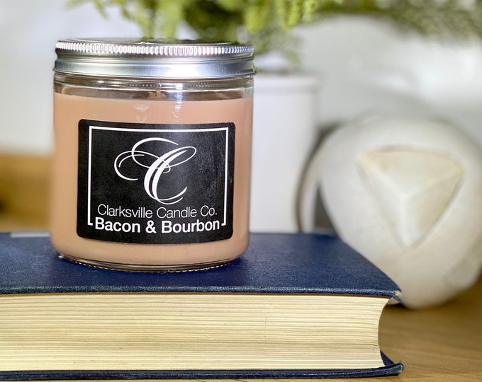 Bacon & Bourbon All Natural Soy Candle 6oz