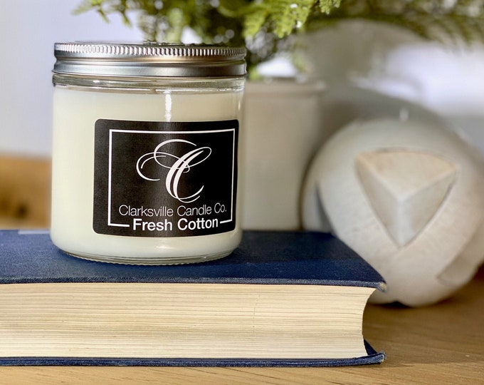 Fresh Cotton All Natural Soy Candle 12oz
