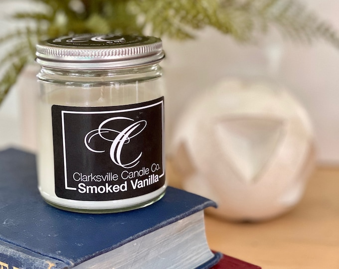Smoked Vanilla All Natural Soy Candle 12oz