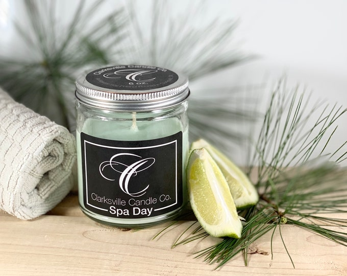 Spa Day All Natural Soy Candle 6 oz