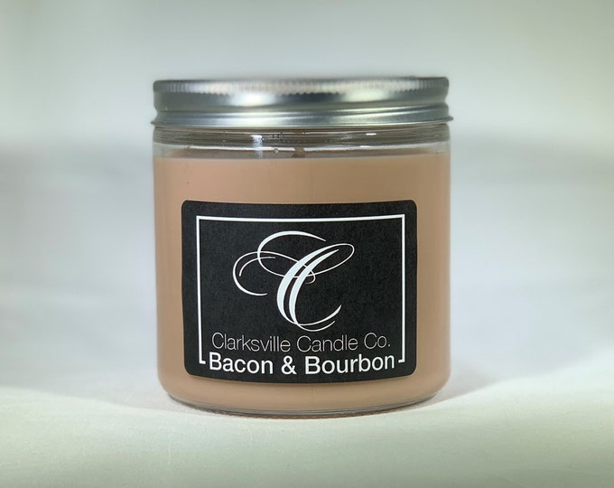 Bacon & Bourbon All Natural Soy Candle 12oz