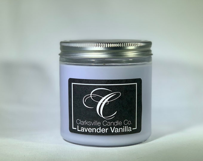 Lavender Vanilla All Natural Soy Candle 6oz