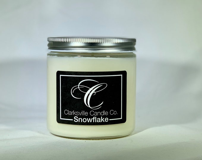 Snowflake All Natural Soy Candle 12oz