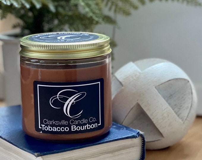 Tobacco Bourbon All Natural Soy Candle 12oz