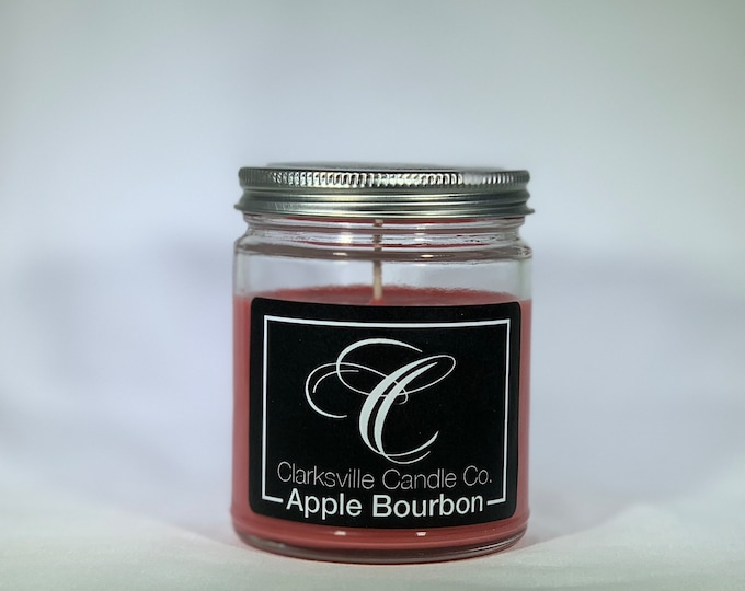 Apple Bourbon All Natural Soy Candle 12oz