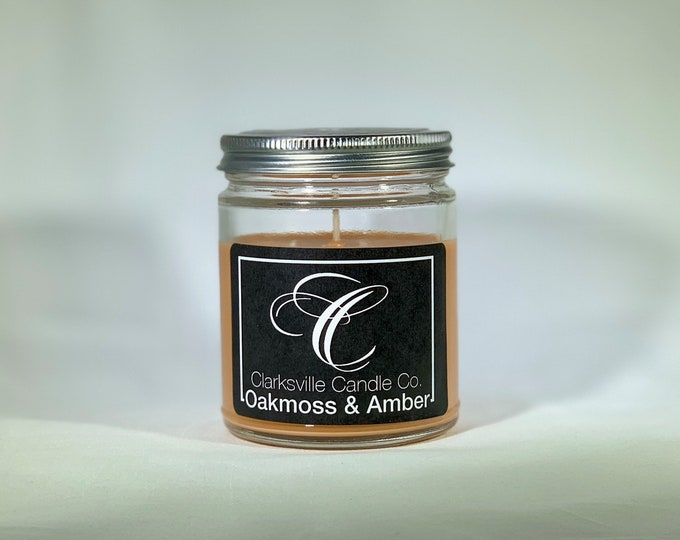 Oakmoss Amber All Natural Soy Candle 6oz