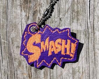 Smash Keychain, Hulk Keychain, Hulk Smash, Smash Accessory, Roller Derby keychain, Roller Derby Accessory, Smash Accessory, Marvel Accessory