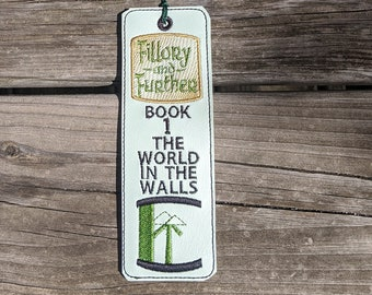 The Magicians Bookmark, Fillory and Further, Magic gift, Book Lover, Fantasy Accessory, Reading, Green Bookmark, Queliot,World in the Walls