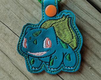 Bulbasaur Keychain, Bulbasaur KeyFob, Pokemon Keychain, Pokemon Charm, Bulbasaur Charm, Pokemon gift, Pokemon Accessory, Pokemon Party Favor