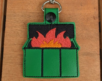 Dumpster Fire Keychain, Dumpster Accessory, Garbage Fire Accessory, Chaos Charm, Die in a Fire, 2020 Keychain